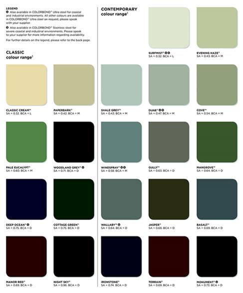 DKP Sheds Colour Range